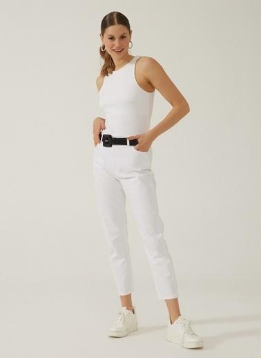 People By Fabrika People By Fabrika Normal Bel Normal PaÇa Kadın Kot Pantolon Beyaz
